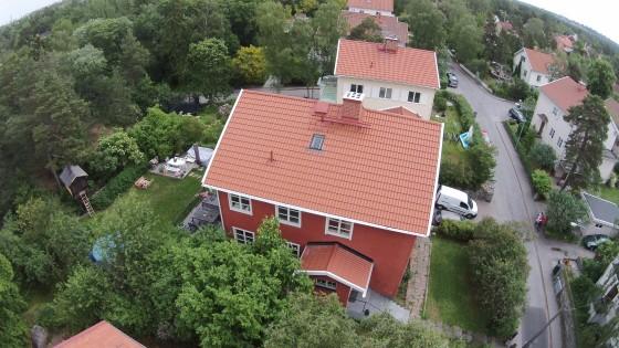 Takläggning, takrenovering Brötvägen Bromma