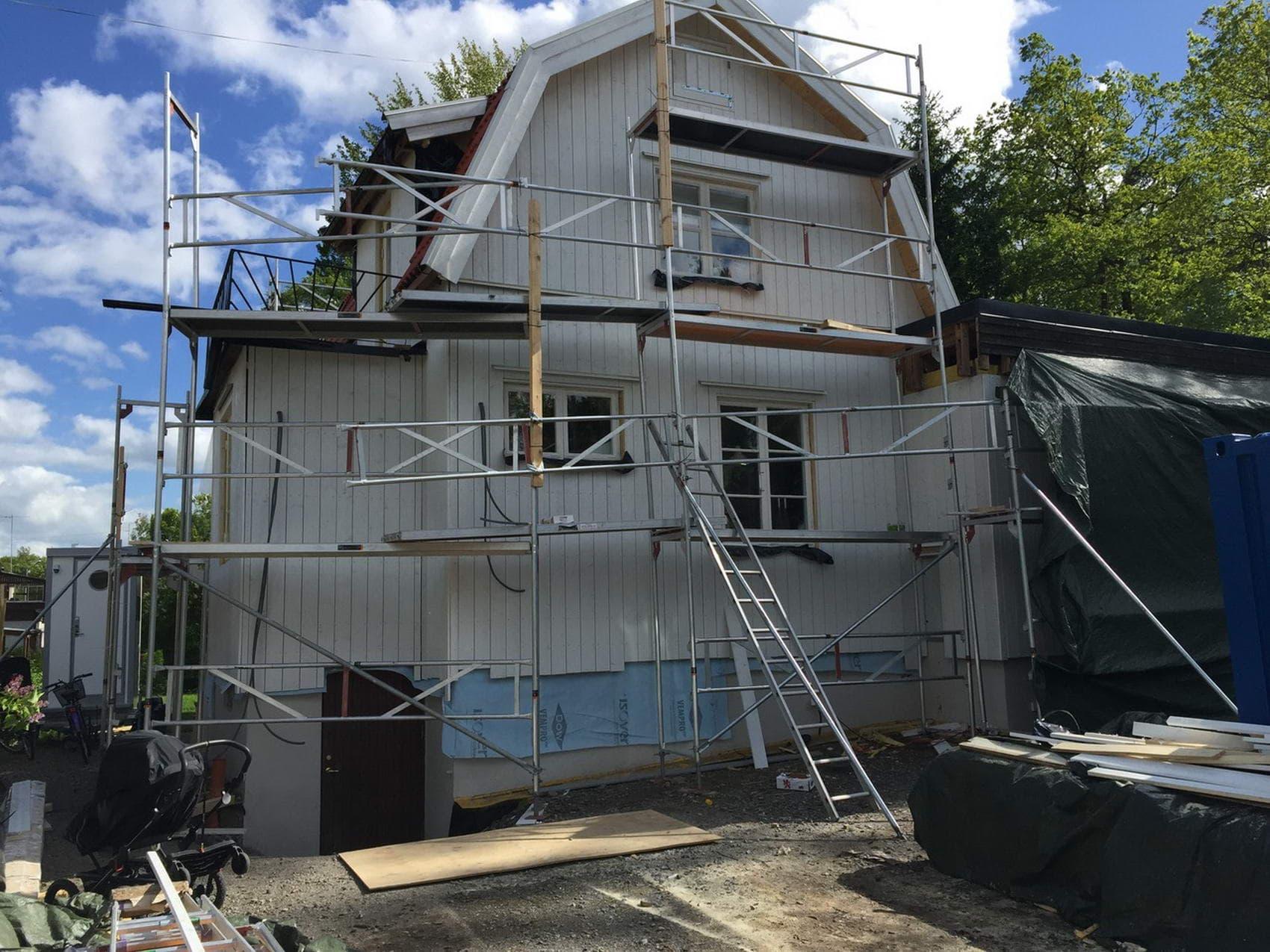 träfasad renovering
